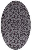 rug #933769 | oval purple damask rug