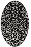rug #933805 | oval white damask rug