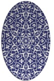 rug #933813 | oval white geometry rug