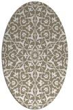 rug #933825 | oval beige traditional rug