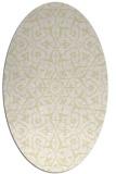 rug #933833 | oval white damask rug