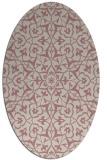 rug #933873 | oval pink traditional rug