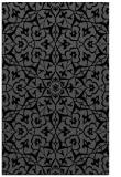 rug #933893 |  black damask rug