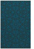 rug #933953 |  blue-green geometry rug