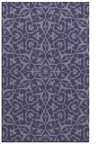 rug #933977 |  blue-violet geometry rug