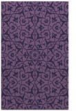 rug #933985 |  purple damask rug