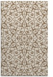 rug #934037    mid-brown damask rug