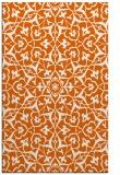 rug #934161 |  red-orange damask rug