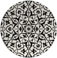 rug #934249 | round white traditional rug