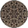 rug #934257 | round black traditional rug