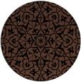 rug #934261 | round black damask rug
