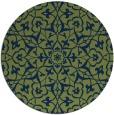 rug #934289 | round green rug