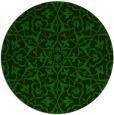 rug #934305 | round green damask rug