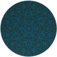 rug #934313 | round blue traditional rug