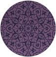 rug #934345   round purple traditional rug