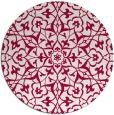 rug #934365   round red damask rug
