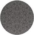 rug #934393 | round brown damask rug