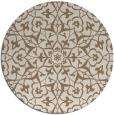 rug #934397 | round mid-brown damask rug