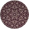 rug #934405 | round pink damask rug