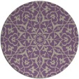 rug #934429 | round purple traditional rug