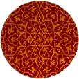 rug #934445 | round red-orange damask rug