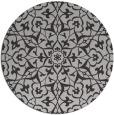 rug #934457 | round red-orange damask rug