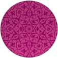 rug #934461 | round pink damask rug