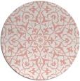 rug #934473 | round pink damask rug