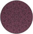 rug #934477 | round purple damask rug