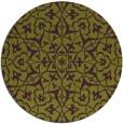 rug #934481 | round green damask rug