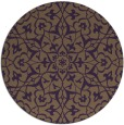 rug #934485 | round mid-brown traditional rug