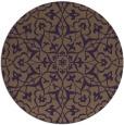 rug #934485 | round mid-brown damask rug