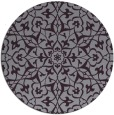 rug #934489 | round purple traditional rug