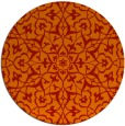 rug #934497 | round red damask rug