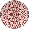 rug #934501 | round red traditional rug
