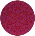 rug #934505 | round pink traditional rug