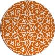 rug #934521 | round red-orange damask rug