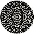 rug #934525   round black damask rug