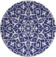 rug #934533 | round white traditional rug