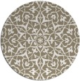 rug #934545 | round white traditional rug