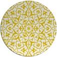 rug #934561 | round yellow geometry rug