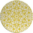 rug #934561 | round yellow damask rug