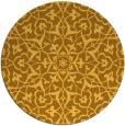 rug #934565 | round yellow traditional rug