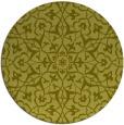 rug #934573 | round light-green damask rug