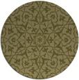 rug #934585 | round light-green damask rug