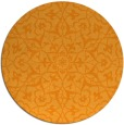 rug #934597 | round light-orange damask rug