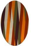 rug #935325 | oval orange graphic rug