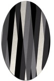 rug #935329 | oval white abstract rug