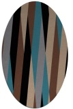 rug #935341   oval brown graphic rug