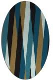 rug #935353 | oval brown stripes rug